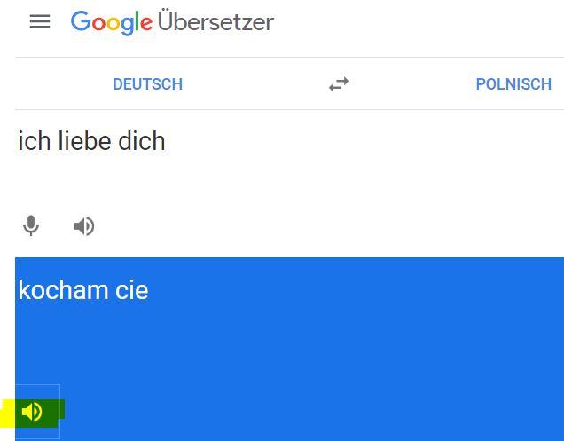 Ich Liebe Dich Auf Polnisch Google Ubersetzer