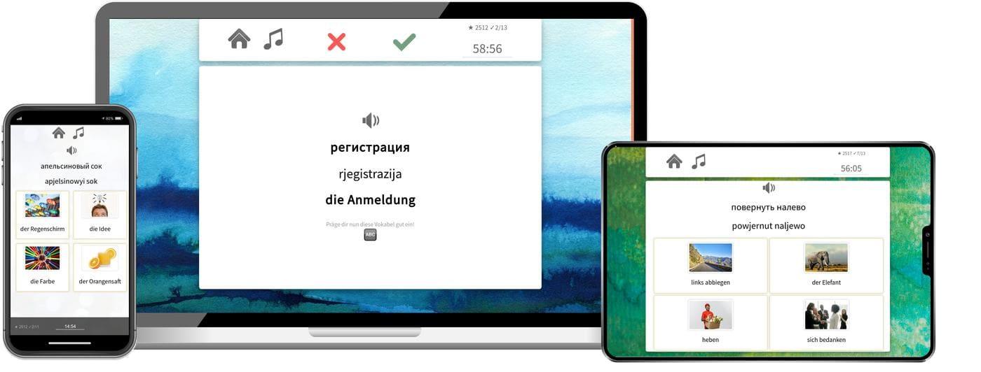 Russisch online lernen mit app