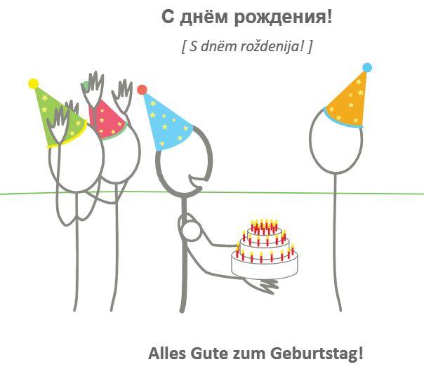 Geburtstag text auf russisch alles gute zum Zum Geburtstag