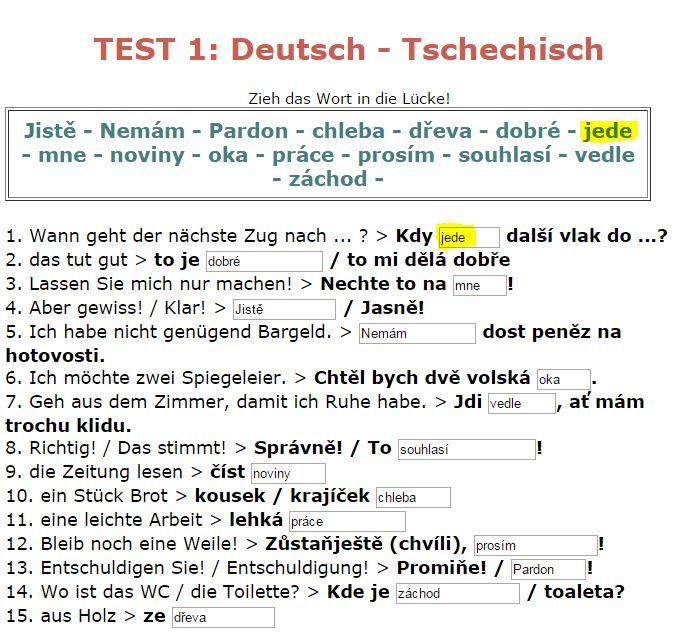 Tschechisch Für Fortgeschrittene Tschechisch Tools Für Profis