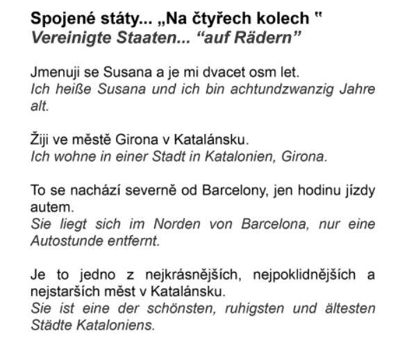 Tschechisch Deutsch čeština Němčina